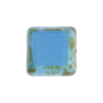 F/P 15x15mm Cut Square Blue Turquoise Marble Edge image