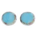 F/P 12mm Cut Round Aqua Silk Marble Edge image