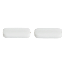F/P 15x5mm RECTANGLE STRUNG OPAQUE WHITE/MATTE SIDES image