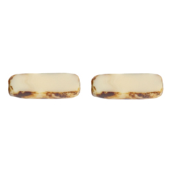 F/P 15x5mm RECTANGLE STRUNG BEIGE/MARBLE SIDES image