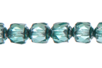 F/P LANTERNS 6MM TEAL GREEN SILVER COATED ENDS image