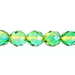 FIRE/POLISHED 8mm 2 TONE YELLOW/GREEN STRUNG image