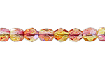 F/P 4mm CRYSTAL/YELLOW/ORANGE TWO-TONE AB image