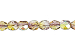 F/P 4mm CRYSTAL/YELLOW/OLIVINE TWO-TONE AB image