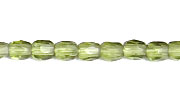 F/P 2mm ROUND BEADS STRUNG TRANSPARENT OLIVINE image