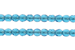 F/P 2mm ROUND BEADS TRANSPARENT DARK AQUA image