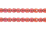 F/P 2mm ROUND BEADS TRANSPARENT NATURAL ROSE image
