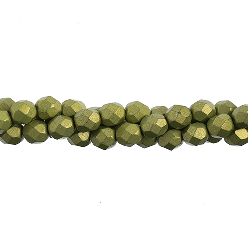 Czech Fire Polish 6mm (25pcs/Str.) Saturated Metallic Lime Punch image