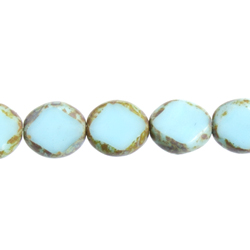 F/P Cut Oval Diamond Face 9x8m Op.Turquoise/Marble Edge image
