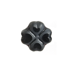 F/P Flower Heart Petal 15mm Opaque Black image