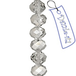 Ori Crystal (Chinese) Donut 6x8mm Luster Crystal Silver image