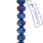 Ori Crystal (Chinese Donut) 6x8mm Metallic Blue image