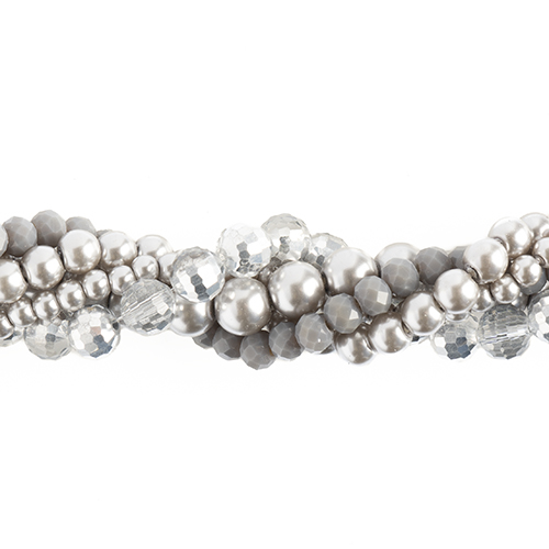Crystal Lane Twisted Bead Strands Dusty Miller image