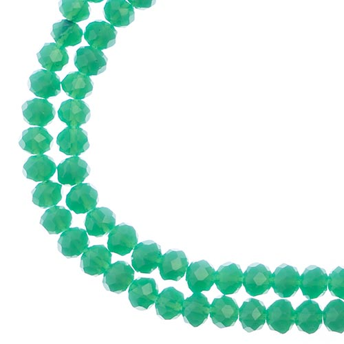Crystal Lane Rondelle 2Strand 7in (apx110pcs)  3x4mm Opaque Turquoise Green image