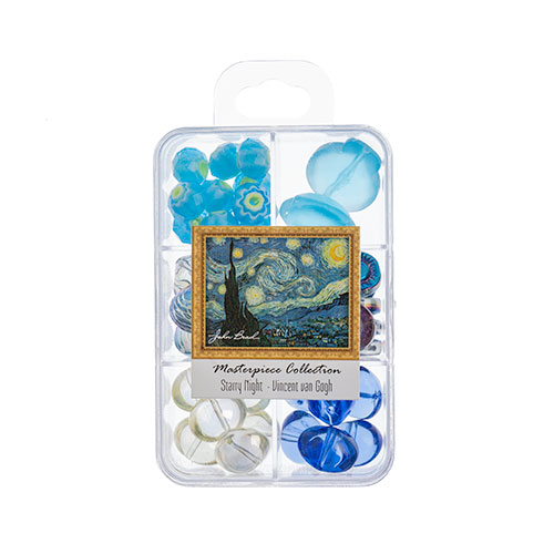 Masterpiece Collection Glass Bead Box Mix apx85g Starry Night - Vincent van Gogh image