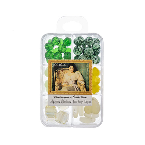 Masterpiece Collection Glass Bead Box Mix apx85g Lady Agnew of Lochnaw - John Singer Sargent image
