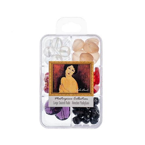 Masterpiece Collection Glass Bead Box Mix apx85g Large Seated Nude - Amedeo Modigliani image