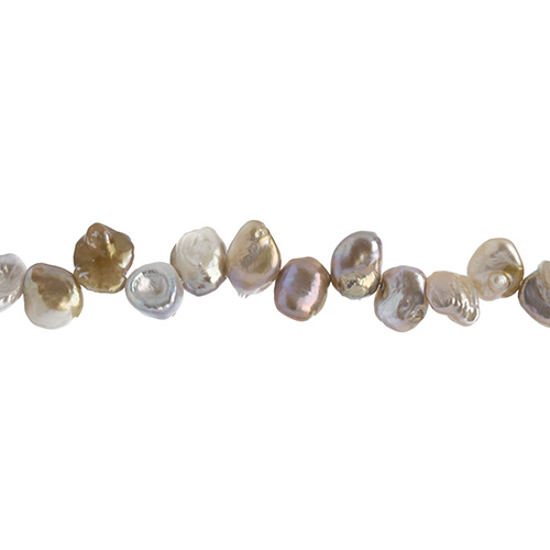 Freshwater Pearl apx 15-20mm Irregular Light Siver image