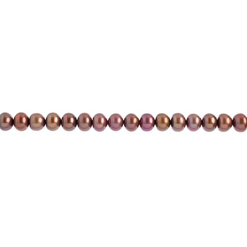 Freshwater Pearl apx 6-7mm Round Copper image