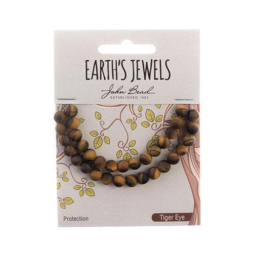 Earth's Jewels Round Matte 6mm Tiger Eye Natural image