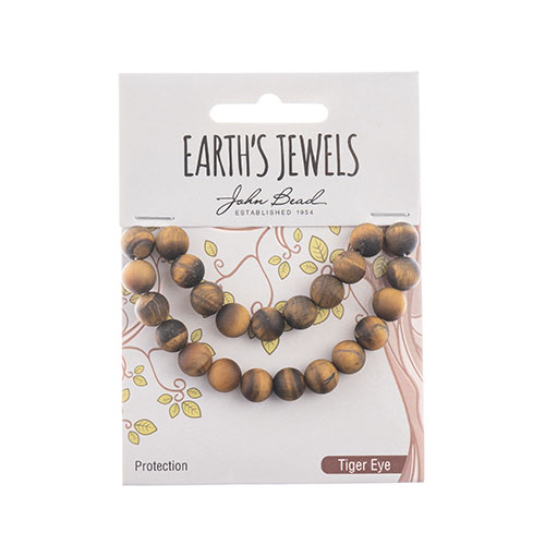Earth's Jewels Round Matte 8mm Tiger Eye Natural image