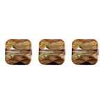 Swarovski Bead 5053 Mini Square 8mm Bronzeshade Crystal 144pcs image