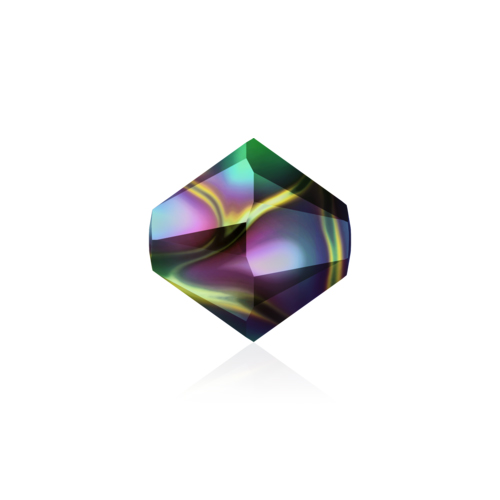Swarovski Bead 5328 Bicone 6mm Crystal Rainbow Darkx2 60pcs image