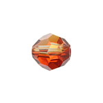 Swarovski Bead 5928 Becharmed Helix 14mm Red Magma Crystal 48pcs image