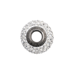 Swarovski Bead 80101 Becharmed 14mm Pave Crystal 2pcs image