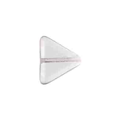 GLASS BEAD TRIANGLE 11X13MM CRYSTAL STRUNG image