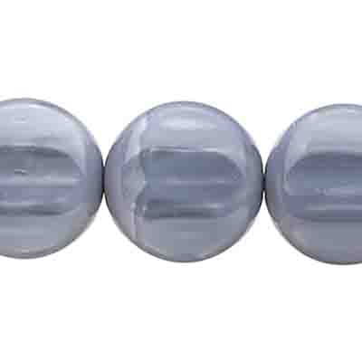 Glass Bead Round 16mm Opaque Grey Silk image