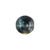 Glass Bead Swirl 13mm Transparent Aqua Azuro image