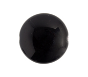 Glass Bead Round Flat 21x10mm Opaque Black image