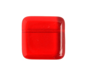 GLASS BEAD FLAT SQUARE 17mm TRANSPARENT SIAM image