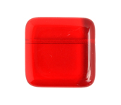 GLASS BEAD FLAT SQUARE 21mm TRANSPARENT SIAM image