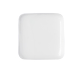 GLASS BEAD FLAT SQUARE 19mm OPAQUE WHITE image