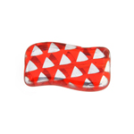 Glass Peacock Rectangle Wavy 20x12mm Red Labrador Motif image