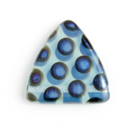 Glass Peacock Beads Triangles 17mm Blue Opal Azuro image