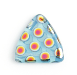 Glass Peacock Beads Triangles 17mm Blue Opal Marea image