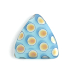 Glass Peacock Beads Triangles 17mm Blue Opal Marea Matte image