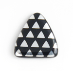 Glass Peacock Beads Triangles 17mm Black Labrador image