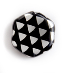 Glass Peacock Beads Hexagon 17mm Black Labrador image
