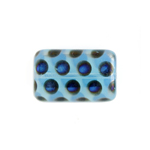 Glass Peacock Beads Rectangle 19x12mm Blue Opal Azuro image
