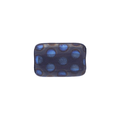 Glass Peacock Beads Rectangle 19x12mm Blue Opal Azuro Matte image