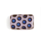 Glass Peacock Beads Rectangle 19x12mm Violet Azuro Matte image