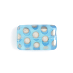 Glass Peacock Beads Rectangle 19x12mm Blue Opal Labrador image
