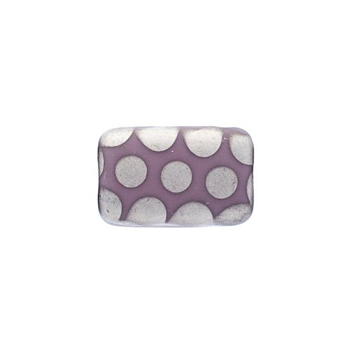 Glass Peacock Beads Rectangle 19x12mm Violet Labrador Matte image