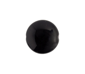 Glass Bead Round Flat 14x6mm Opaque Jet image