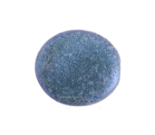Glass Bead Oval 20x18mm Opaque Metallic Blue image