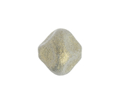 Glass Bead Nugget 13mm Opaque Metallic Gold image